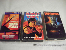 LOT OF 3 VHS Movies Executive Decision -Witness-Rumble In The Bronx