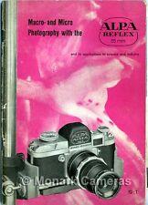 ALPA REFLEX Livre, macro et micro photographie avec les lentilles autres macrostat &