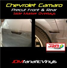 10-13 Chevy Camaro Smoked FRONT & REAR Side Marker Overlays TINT Vinyl PRECUT RS
