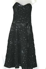 HUNTERS & cueilleurs (petit/UK10/EU38) noir robe bustier avec paillettes-neuf