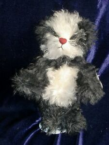 """Annette Funicello Rare Sushi Bear! NEW Mohair Jointed Panda 10"""" stuffed toy doll"""