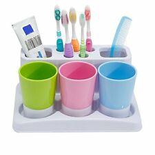 Eslite Toothbrush Toothpaste Holder Stand for Bathroom Storage Organizer