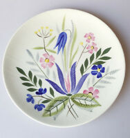 Red Wing Country Garden salad plate 8 inches hand-painted wildflowers