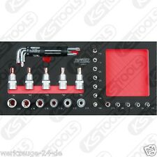 """KS Tools SCS 1/4"""" + 1/2"""" Poco Juego 31-tlg.in 1/3 Sistema de REPUESTOS 713.0031"""
