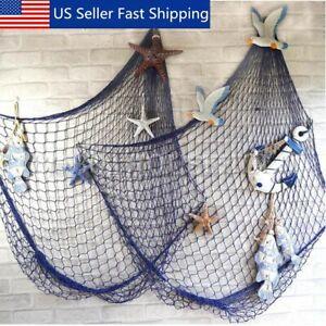 Mediterranean Decorative Nautical Fishing Net Beach Party Decor Hanging Ne M