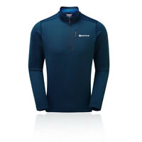 Montane Mens Isotope Pull-On Top - Blue Sports Outdoors Breathable Lightweight