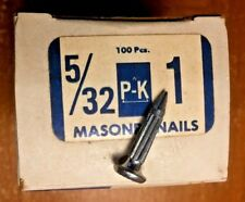 "(100) P-K 1""x 5/32"" Masonry Nails (Parker-Kalon)"