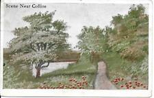 Scene near Collins Iowa IA nice vintage postcard postally used in 1915