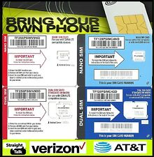 Straight Talk AT&T Verizon Sim Card Activation Kit Bring Your Own Phone 4G LTE