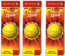 3 x Bottls Bee Health PROPOLIS Throat Spray 50ml each