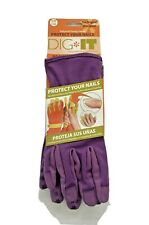 Dig It Womens Nail Protector Garden Gloves Water Resistant Purple Small Med NWT