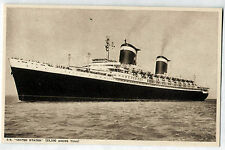 Vintage Postcard Flagship of the US Steamship Line SS UNITED STATES Photochrom