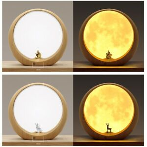 Lovely Moon Bedside Lamp Unique Desk Lamp USB Rechargeable Night Light Xmas Gift