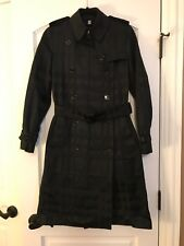 NWT RARE Burberry Trench Check Pattern Black Coat UK6 US4 IT38