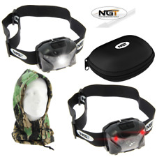 NGT XPR CREE LIGHT 140 LUMENS RECHARGEABLE HEAD TORCH + CAMO SNOOD CARP FISHING