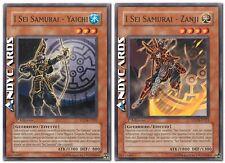 I Sei Samurai - Yaichi + Zanji ☻ Comune ☻ STON IT007 IT011 ☻ YUGIOH ANDYCARDS