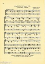 "UNIVERSITY OF ALABAMA Song Sheet c1932 ""Song of the Crimson Tide"" Original"