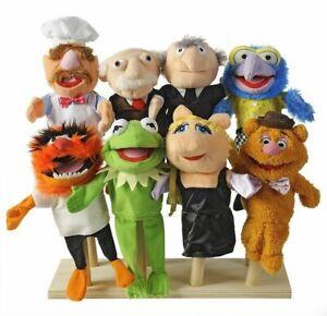 MUPPETS Set of 8 MUPPET SHOW MOVIE Hand Puppets Plush Disney NEW 2012