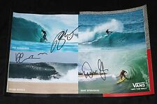 Vans Surfing Team Hand Signed 12x18in Poster w/ Proof photo us open 2017