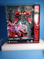 New Transformers INFERNO Power of the Primes Voyager Class Fire Truck Robot