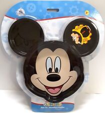 New Disney Mickey Mouse Clubhouse Plate Set With 3 Clip in Pieces