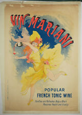 "CHERET Jules AFFICHE ""VIN MARIANI"" French Tonic wine GRANDE LITHOGRAPHIE POSTER"