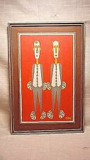 "Vintage Pop Art Acrylic Painting by WA Artist Edith Johnson Titled ""Odd Couple"""