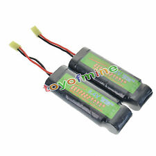 2x 8.4V NiMH 3800mAh Super Power Rechargeable Battery Pack For RC Tank Airsoft
