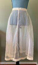 Vintage 1950's Petticoat Half Slip Crinoline Mesh Netting Ivory Off White Small?