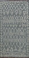 Tribal Geometric Moroccan Multi Level Pile Oriental Area Rug Hand-knotted 5x8 ft