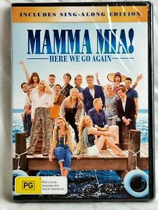 MAMMA MIA 2 Here We Go Again Sing -Along Edition DVD NEW SEALED Free📮