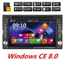 "6.2"" 2Din HD GPS Navigation Car Stereo DVD Player Bluetooth AM FM Radio + 8G Map"