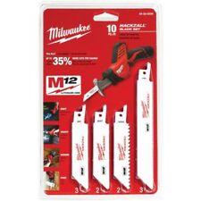 Milwaukee HACKZALL RECIPROCATING SAW BLADE SET 10Pcs 8.5mm Tooth Pitch*USA Brand
