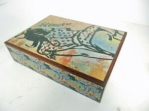 David Bromley Commissioned & CERTIFIED decoupage BOX - ONE OFF 38X27X10cm WOOD