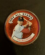 1964 Topps Coin #156 TIM MCCARVER PITTSBURGH PIRATES