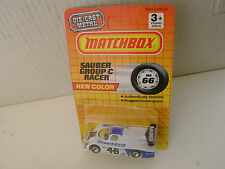 "1990 MATCHBOX SUPERFAST MB66 WHITE/BLUE SAUBER GROUP ""C"" RACER GRAND-PRIX MOC"