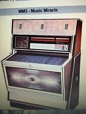 "Juke box  Manuale Rowe AMI originale "" MM-3 "" Music miracle completo"
