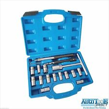 Injector Seat Cutter Set Universal Tool Kit 17pc