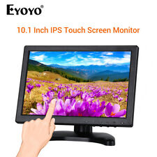 """EYOYO 10.1"""" Touch Screen Monitor 178 Degree Display Support VGA USB HDMI for PC"""