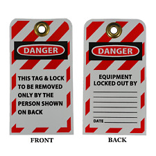 Lockout Tags Pack Of 25 With 38 Brass Grommet Safety Lockout Tagout
