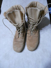 Army Tan Combat Boots Size 10.5 W  Hot Weather, With Vibram Sole