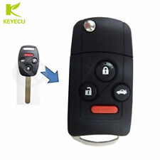 3+1B Flip Remote Key Shell Case Fob for Honda Accord Civic Pilot W/ Button Pad