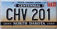 GENUINE North Dakota Peace Garden Centennial License Licence Number Plate CHV201