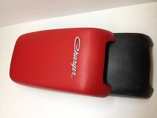 Dodge Charger (2011-2017) Armrest/Center Console Cover (RED CARBON FIBER)