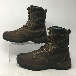 Cabela's Men 10M Roughneck Ledger 8'' Waterproof Work Boots Brown Leather 818572