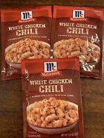 McCormick White Chicken Chili Seasoning Spice Mix 3 Packets 7/22 FREE SHIP VHTF