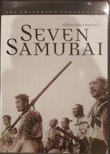 THE CRITERION COLLECTION SEVEN SAMURAI RARE DVD AKIRA KUROSAWA JAPANESE FILM
