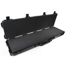 "TUFF 52"" Rolling Weatherproof Long Gun Rifle Shotgun Locking Travel WEAPON CASE"