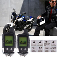Two Ways Motorcycle ATV Anti-theft Alarm Sensor System Remote Engine Start 3500M