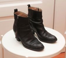 Acne  Black Leather 'Pistol' Ankle Boots Italy | US 9  Euro 39 | $570